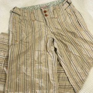 Free People Wide Leg Striped Pants Size 8